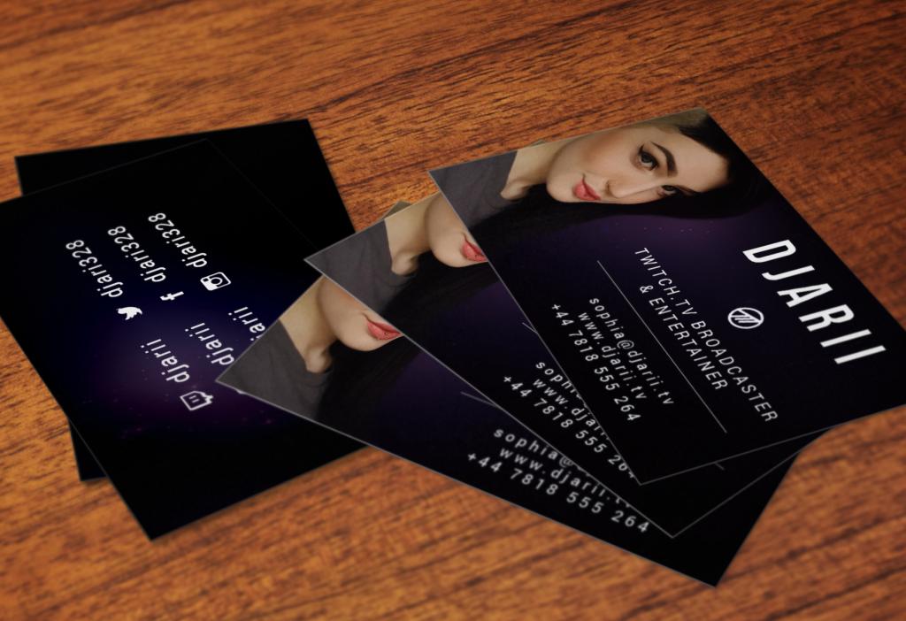 Business card design djarii artenesse colourmoves