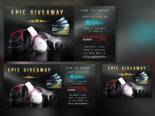 Promotional Banner with Hyper X and Method
