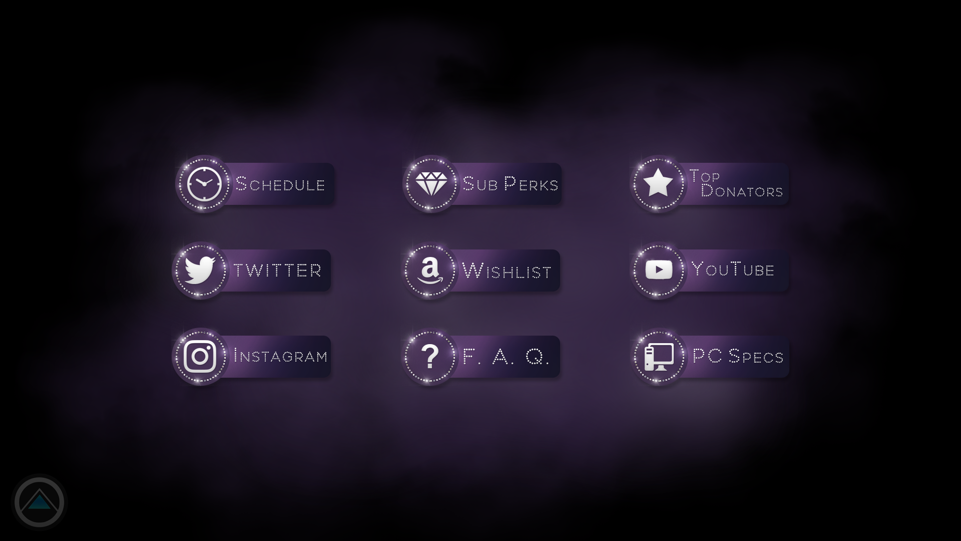 User Interface Design - Twitch Profile Bio Buttons