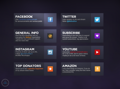 User Interface: Twitch Profile Buttons