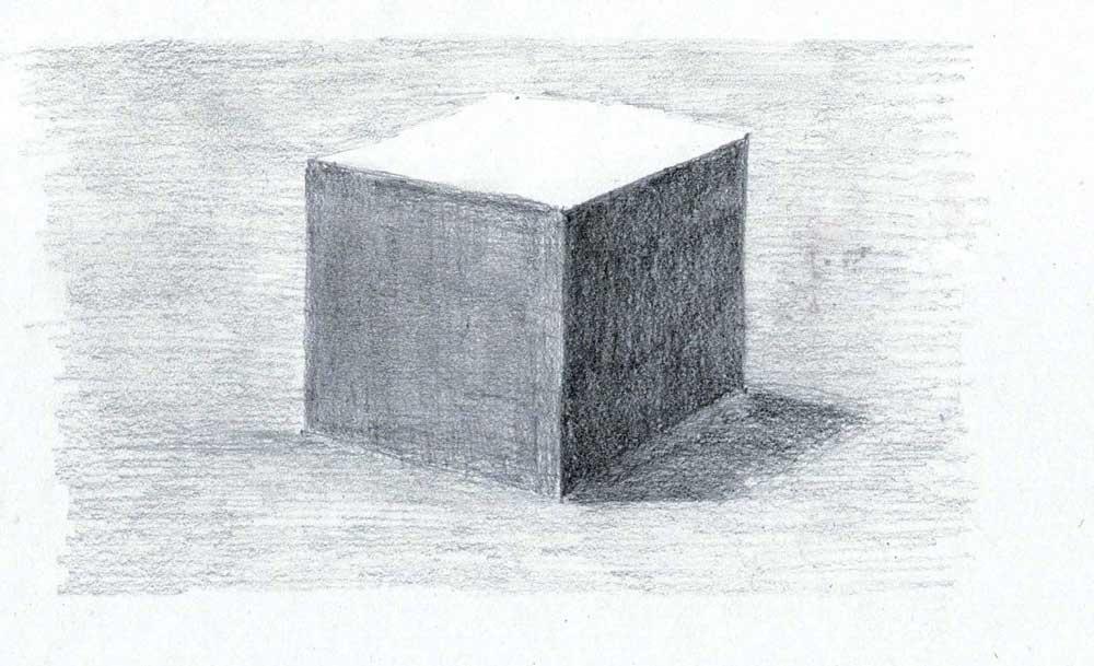 a study of light on a cube